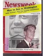 Newsweek  Bobby Kennedy's Role November 21, 1960 - $14.84