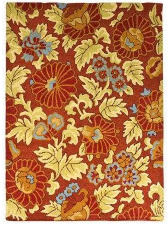 350 Target Fieldcrest Luxury Floral Tapestry Red Room Rug