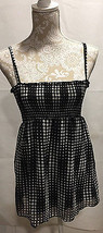 BCX  WOMEN CASUAL TANK TOP BLOUSE CAMI CAMISOLE BLACK/WHITE POLKA DOT SI... - $15.59