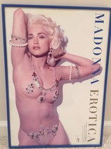 Madonna Erotica Ultra Rare 14x20 Poster Official WB 1992 Framed Promo Po... - $247.50