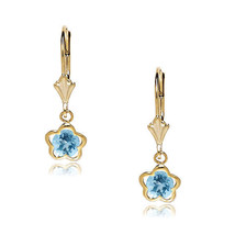 Women/Children's 14K Yellow Gold 12 Month Birthstones Leverback Earrings - $79.54