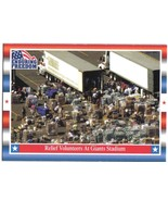 Enduring Freedom Picture Card #8 Relief Volunteers At Giants Stadium Top... - $0.94