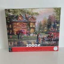 Puzzle 2000 Pcs Hometown Firehouse Thomas Kinkade Ceaco New Sealed - $21.99