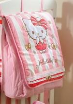Hello Kitty Striped Crib Bedding Accesory - Diaper Bag / Nappy Bag - $84.99