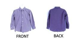 NAUTICA Blue Checkered Button Down Shirt 4T - $13.30