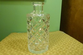 Vintage Crystal Decanter  - Damaged - Very Heavy - Diamond Pattern No St... - $14.80