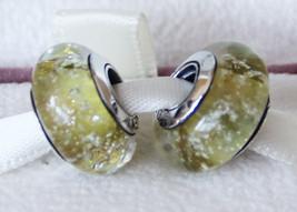 Disney Belle Signature Color Murano Glass Charm Bead For Charm Bracelet - $9.99