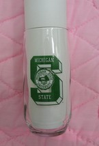 Michigan State Spartans College Football logo Beer Drinking Glass Tumbler - $13.99