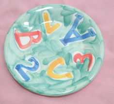 """Ceramica San Marciano hand painted Italy Alpha salad plate 8"""" - $21.99"""