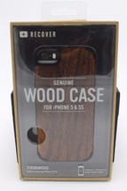 Recover iPhone 5 & 5S Wood Protective Case in Retail Packaging Zebrawood... - $24.74