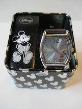DISNEY SILVER MICKEY MOUSE ACCUTIME MK1043 WATCH - $5.93