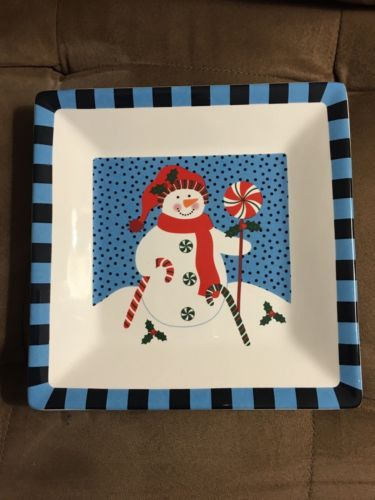 Snowman Plate 2010 Christmas Plate