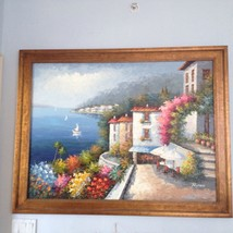 "Ocean Beauty! Mediterranean painting by Rossini approximately 43"" X 56"" - $799.99"