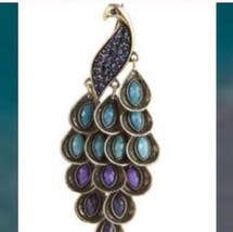 strut your stuff with a multicolored peacock pin or brooch - $29.99