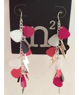 Woman Pierced Hook Dangle Earring - $6.85