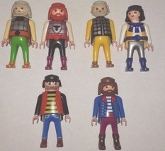 6 Vintage Playmobile Geobra Figures, 4 piece 19... - $14.85
