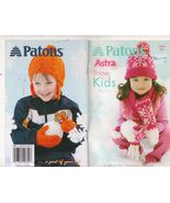 Free Ship Patons 500853 Snow Kids Knit Patterns... - $6.99