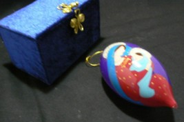 """Lovely Christmas Ornament Virgin Mary & Baby Jesus """" 2012 """" in Blue Velv... - $14.84"""