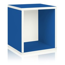 Way Basics Eco Stackable Storage Cube Plus and Cubby Organizer, Blue (ma... - $22.50