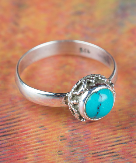 Used, Fantastic Turquoise Gemstone Sterling Silver Ring All size BJR-399-TU for sale  USA