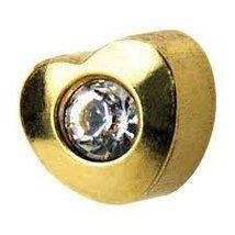 Universal Heartlite Shape 24K 3mm Ear Piercing Studs Cartilage Earring Stud Hypo - $17.99