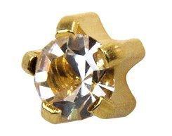 Universal April Diamond Birthstars Tiffany Set Ear Piercing Studs Stud Hypoaller - $17.99