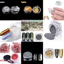 Nail Art Giltter Powder Dust Mirror Effect Magic Chrome Pigment Manicure... - $12.50