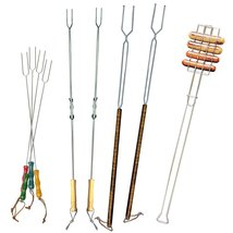 Cookware Set Picnic Camping Hot Dog Marshmallow Roasting Forks Campfire ... - $29.99