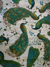 1/2 yard colorful Peacocks/birds cotton quilt fabric -free shipping image 4