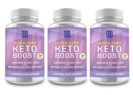 3 Bottles: ULTRA FAST Keto Boost - The Original by Double Dragon Organics 800 MG - $69.28
