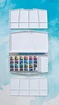 Winsor Newton Cotman Water Color Pocket PLUS Set of 24 Half Pans 0390376... - $52.67