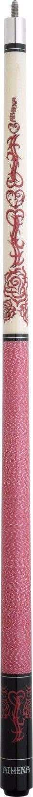 New Athena ATH34 Pool Cue Stick - Rose Colored Tribal Flower 17-21 oz & Case