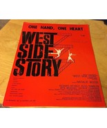 Vintage Sheet Music  One Hand, One Heart from West Side Story  Leonard B... - $7.69