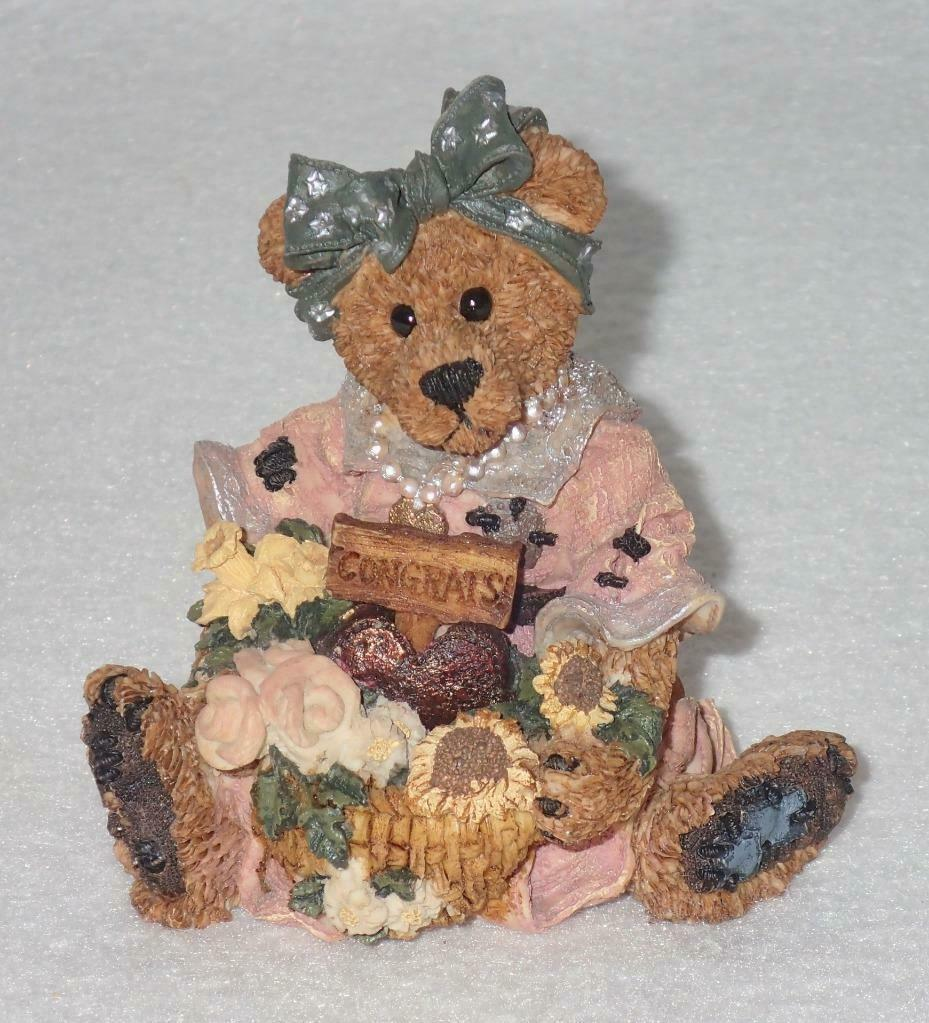 Boyd Bearstone Resin Bears Justina The Message Bearer Figurine #2273 27E NEW image 4