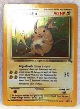 Raichu 14/62 Holo Rare Pokemon Fossil, Nm Never Played Tough Find   Hot Card!! - $29.39