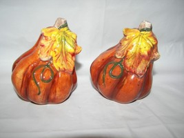 Fall Pumpkin Salt & Pepper shakers ceramic New - €6,04 EUR