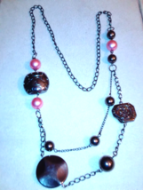 24 inch  never ending charm necklace - $10.00