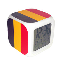 Led Alarm Clock Belgium National Flag Creative Desk Digital Clock Kids T... - $19.99