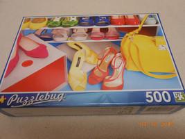 NEW PUZZLE BUG 500 PIECE PUZZLE : FASHION SHOES * PURSES STOCKING STUFFE... - $6.44