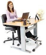 Cardio Equipment Exercise Bike DeskCycle Desk Pedal Exerciser White TT-DSC - £157.02 GBP