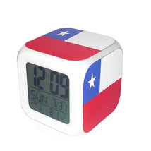 Led Alarm Clock Chile National Flag Creative Desk Digital Clock Kids Toy... - $19.99