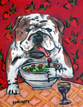 animal Art oil painting printed on canvas home decor Bulldog dog  - $14.99+