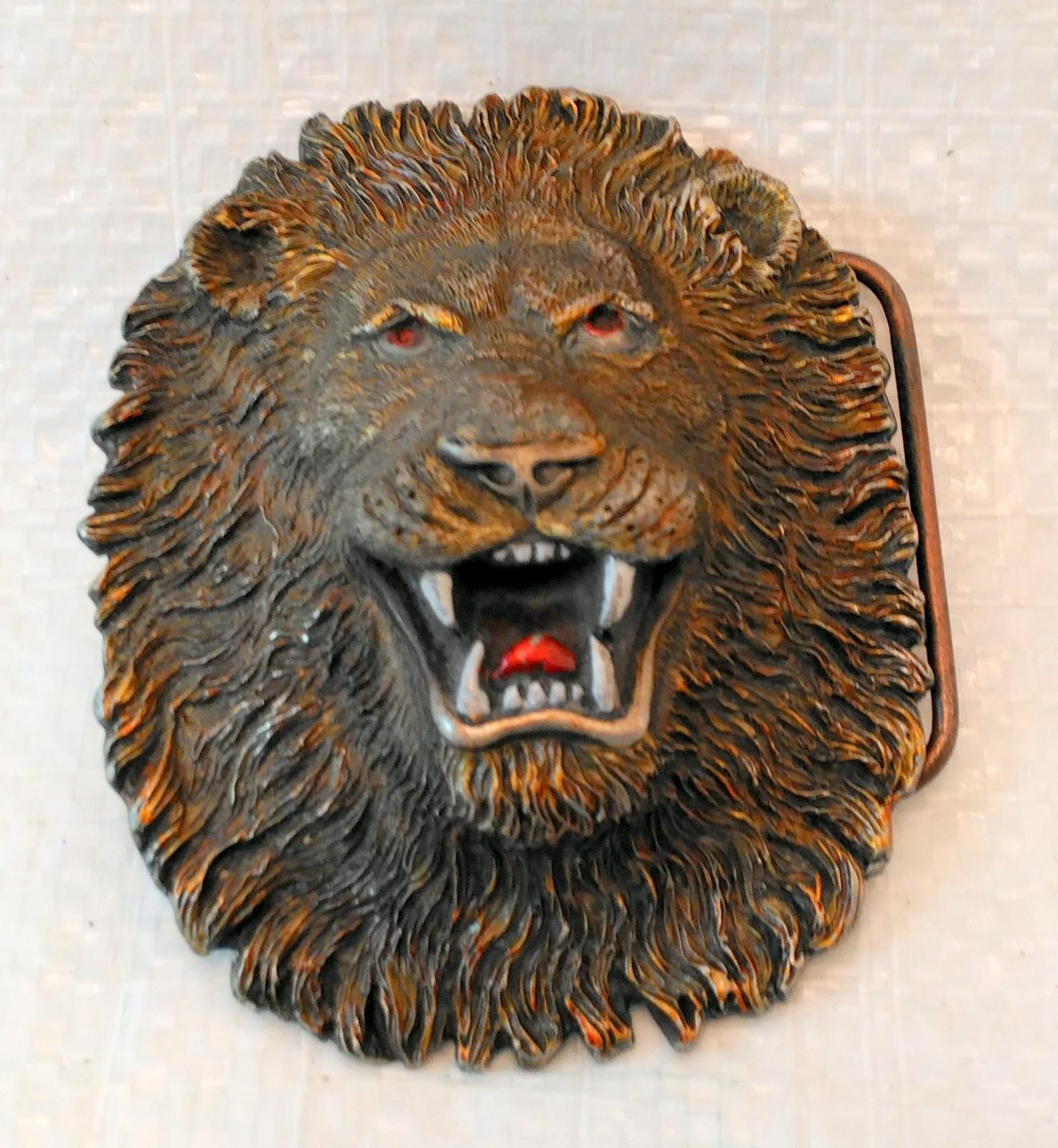 Lion belt buckle  2