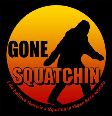 Hot GONE SQUATCHIN Big Foot Man Black T-Shirt S M L XL 2XL