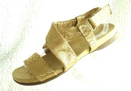 Naturalizer Ainsley Womens Sz 8 M Light Tan & Gold Canvas Slingback Sandals - $18.48