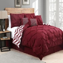 7 Piece Comforter Set Reversible Queen Size Bed... - $114.72