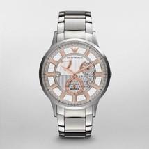 Emporio Armani Mens Meccanico Exclusive Automatic Watch Ar4663 $495 Bn/ Gift Box - $299.11
