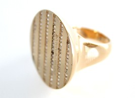 Emporio Armani Gold Stainless Steel Ring EGS1361 Size 9 $150 With EA Pouch - $94.11