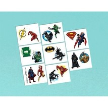 Justice League Temporary Tattoos Favors 16 Ct Birthday Party  - $5.76 CAD