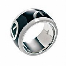 Emporio Armani Steel Ring BNWT 100% Authentic Size 6.5 $95 Comes With EA... - $64.95